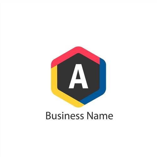 多边形商业标志logo设计
