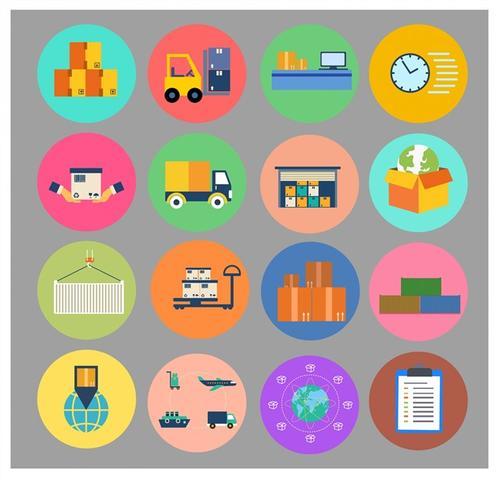 商业运输卡通矢量图标