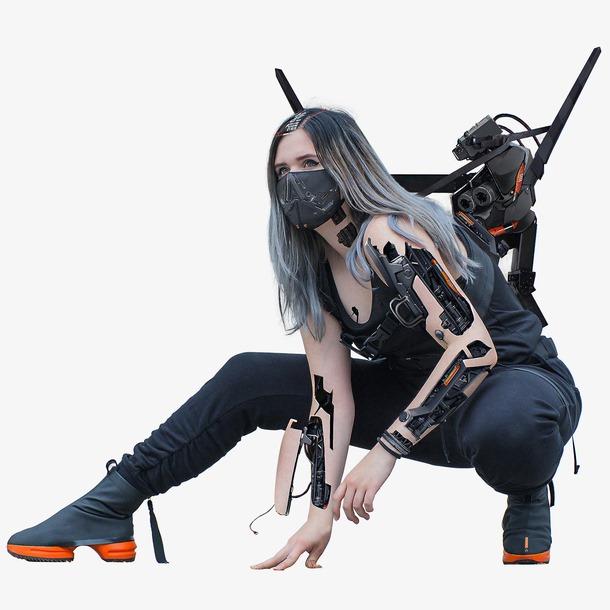 武装机械美女图片