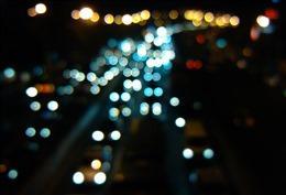 公路夜景灯光图