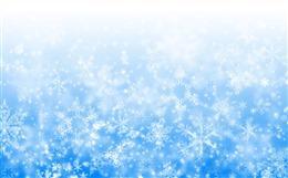 蓝色雪花底图