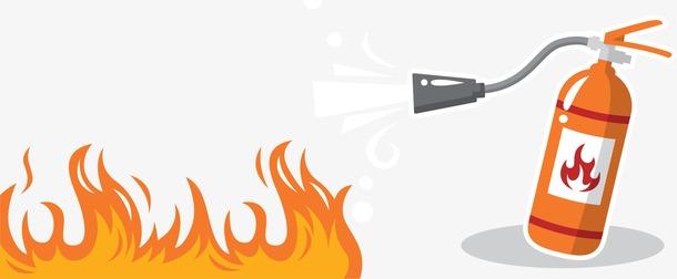 消防灭火手绘插画