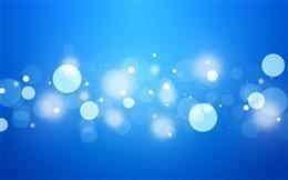 蓝色气泡背景图