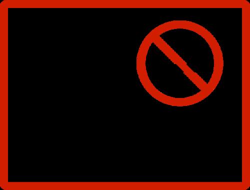 NO Smoking禁止吸烟图标