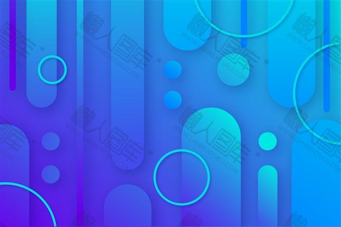 蓝色几何电商背景图片