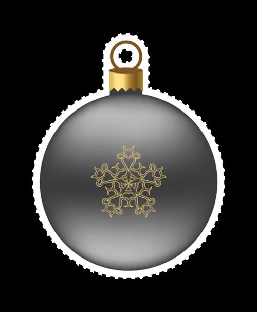 圣诞节雪花吊球矢量图