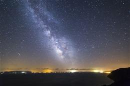 星空与海唯美背景