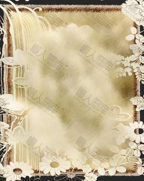 复古涂鸦花朵装饰背景图