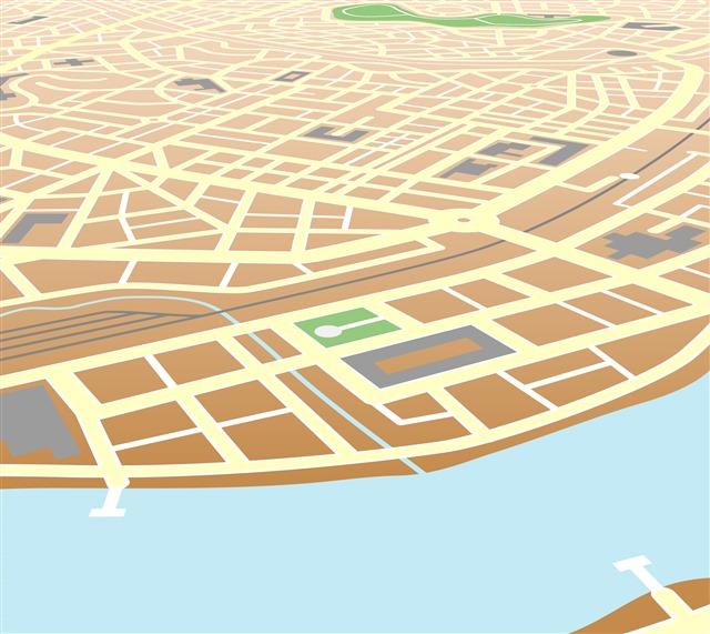 扁平化城市地图