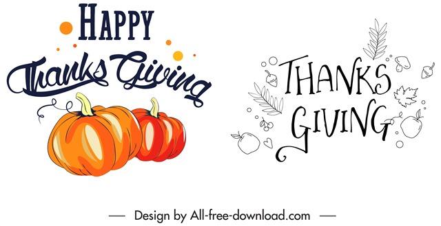 感恩节标签设计