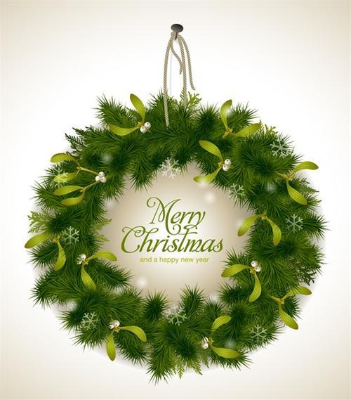绿色圣诞节花环装饰