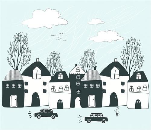卡通房屋简笔画