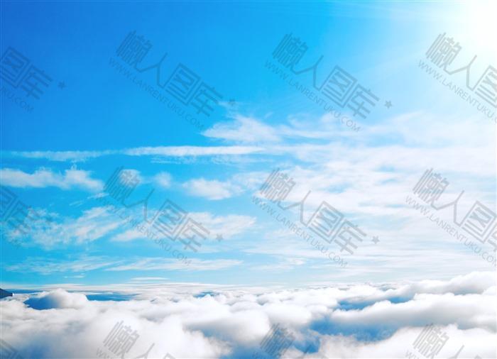 蓝色天空背景素材