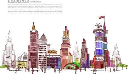 建筑彩绘图