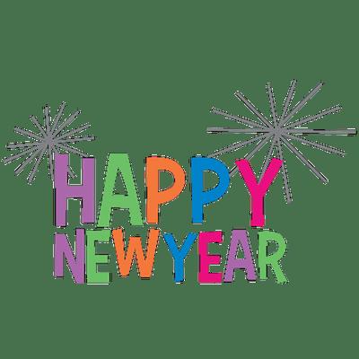 彩色新年快乐字体