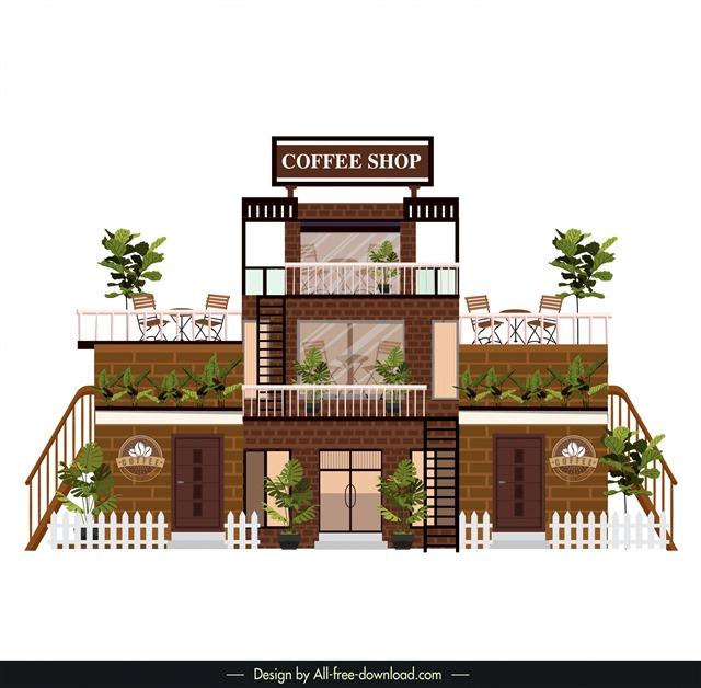 咖啡厅门面设计效果图