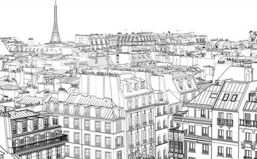 高楼大厦简笔画