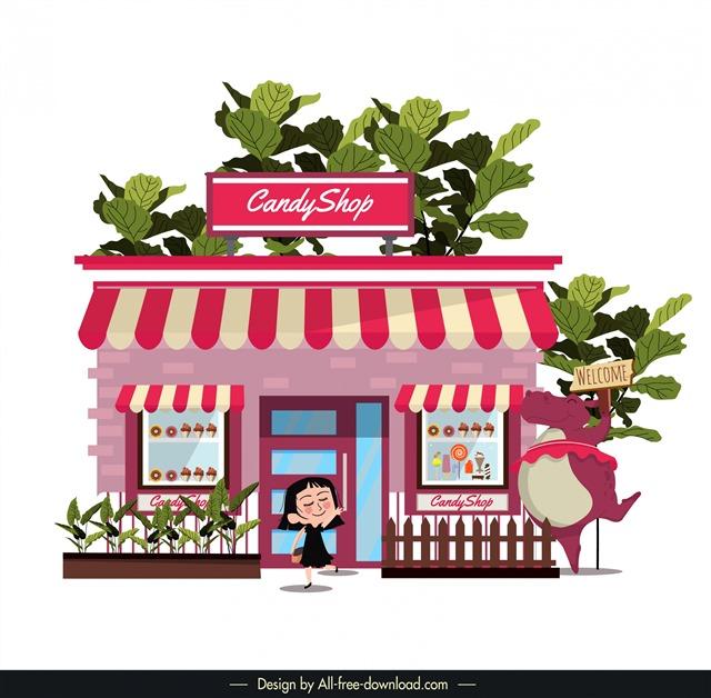 甜品店门面