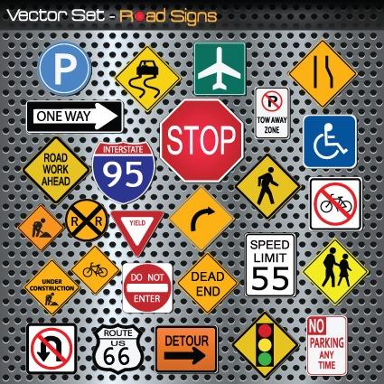 全新交通标志图片免抠