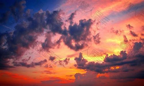 夕阳天空素材图片