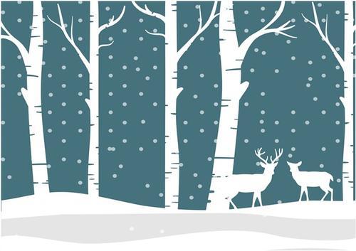 24节气小雪风景画
