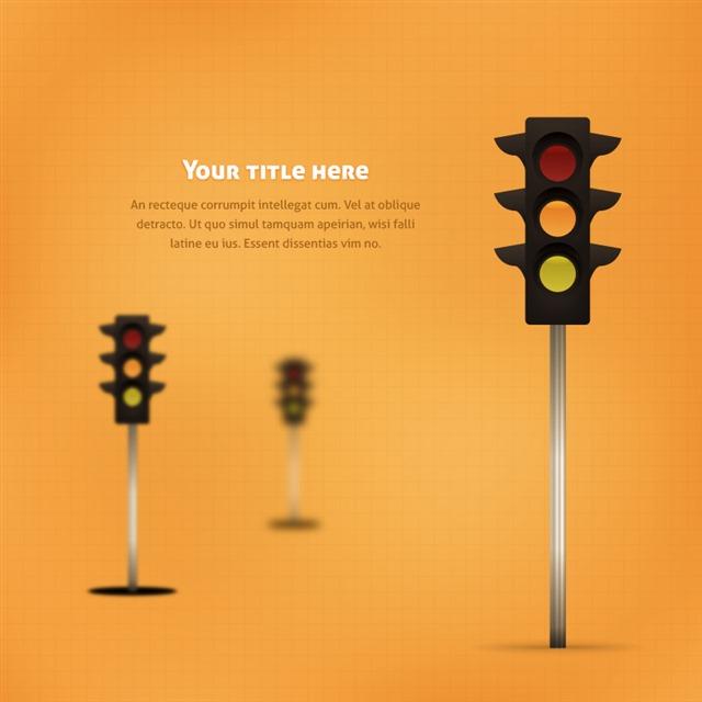 交通路灯创意背景
