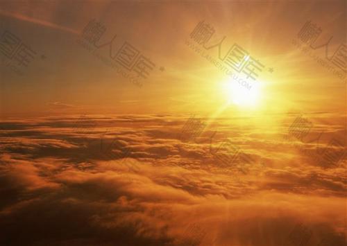唯美日落天空背景