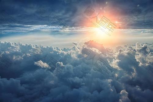 天空云堆背景素材