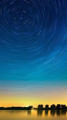 流星雨图片梦幻星空壁纸