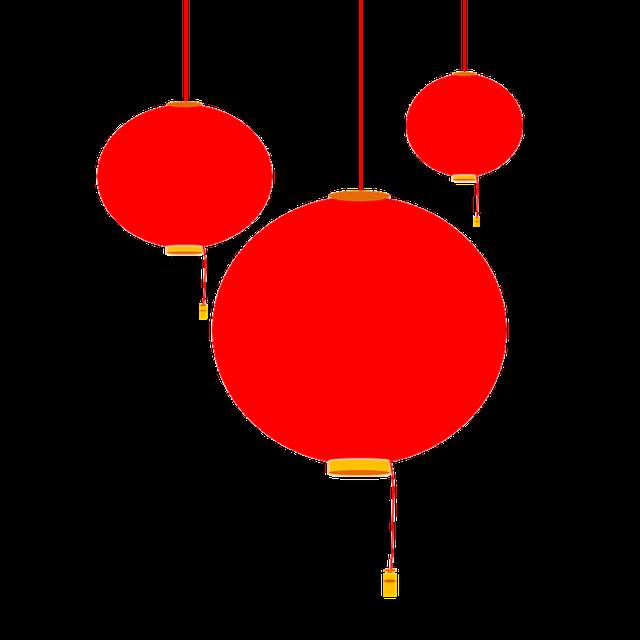 灯笼扁平风装饰
