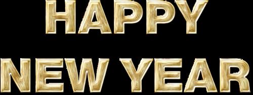 英语新年快乐花体字