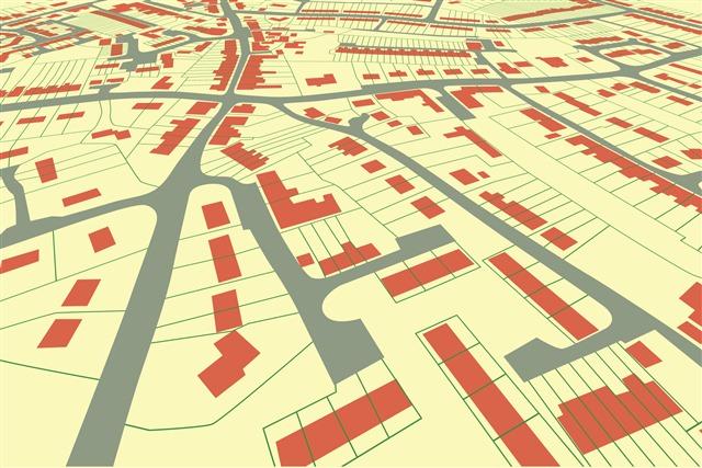 扁平化城市分布地图