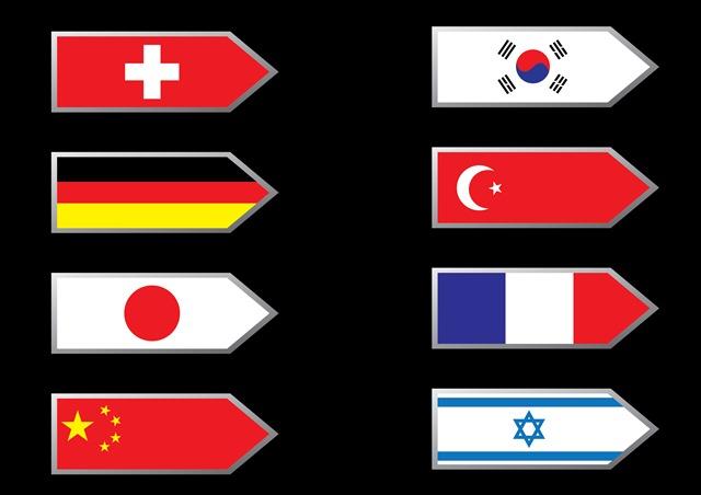 国旗创意箭头标志