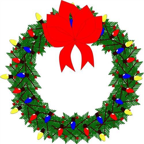 圣诞节花环矢量