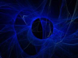蓝色发光烟雾图片