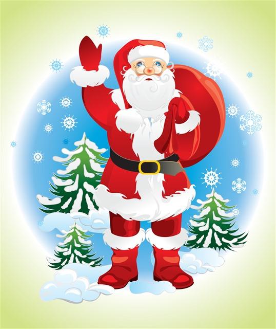 圣诞老人矢量剪贴画