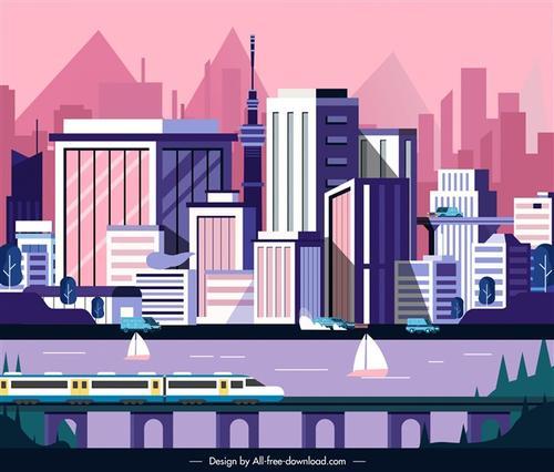 现代城市AI设计图