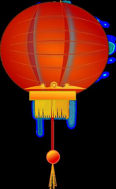 新年装饰大红灯笼图片