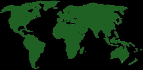 世界轮廓图简图图片