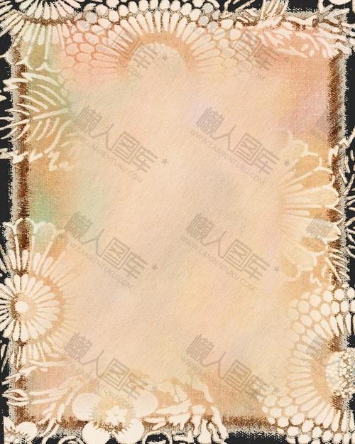 清新浅色花纹涂鸦背景图