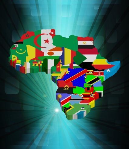 非洲大陆国家分布图