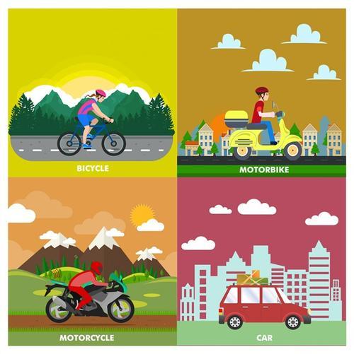 交通安全创意插画