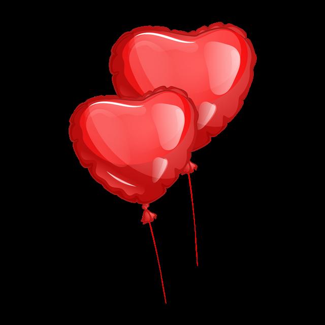 爱心气球简笔画