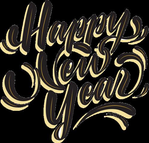 新年快乐美术字体