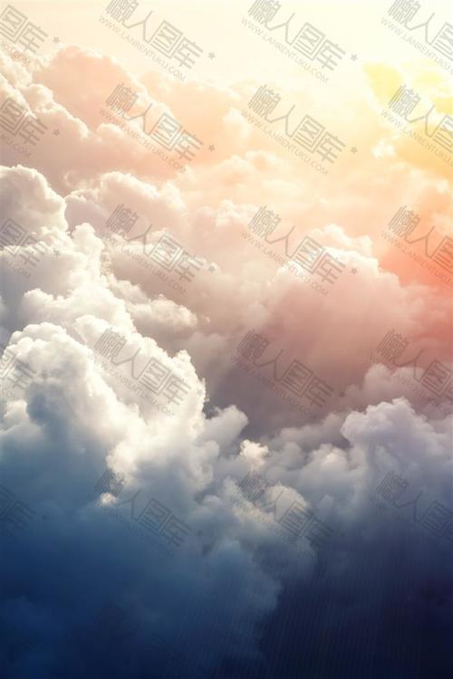 天空白色云朵背景图素材