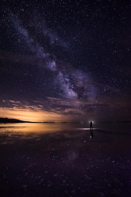 美丽梦幻星空背景图片