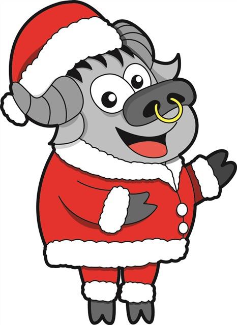 圣诞节吉祥物金牛矢量图