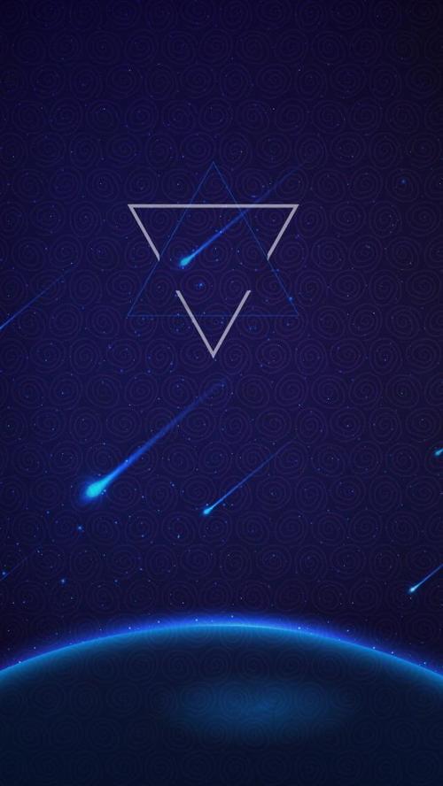 蓝色光效几何科技背景图片