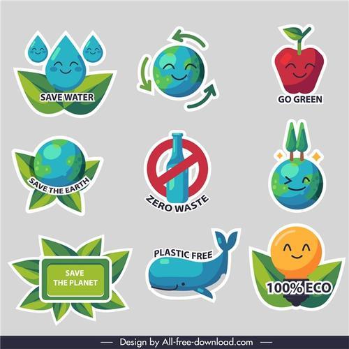 绿色环保节约矢量插画