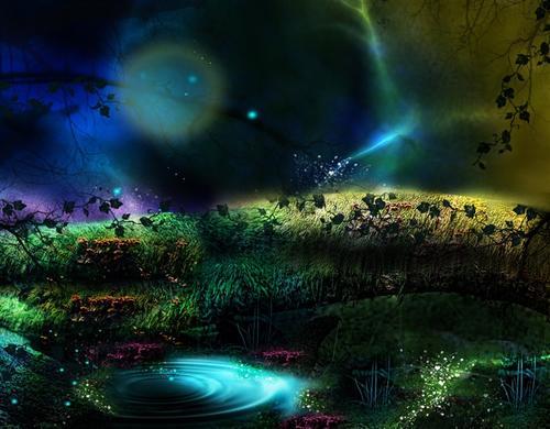 森林梦幻背景图